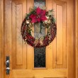 Christmas wreath knit from chestnuts — Stock Photo #2527791
