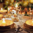 Christmas table  with christmas mood — Photo