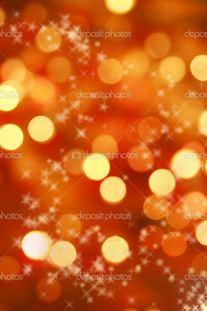 Abstract background of christmas orange lights — Stock Photo #2527841