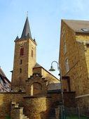 Ancient church in small town Dernau — Stock Photo