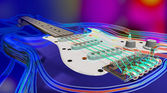 Abstract Guitar background — Stock Photo
