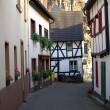 Narrow ancient street in small town Alte - Stock Photo