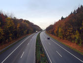 German autobahn in the autumn — Stock Photo