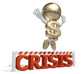 Mr dollar wins a global economic crisis — Stock Photo