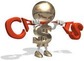 Mr dollar breaks off a global economic c — Stock Photo