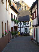 Narrow ancient street in small town Alte — Stock Photo