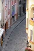 Narrow ancient street in Tallinn — Stock Photo