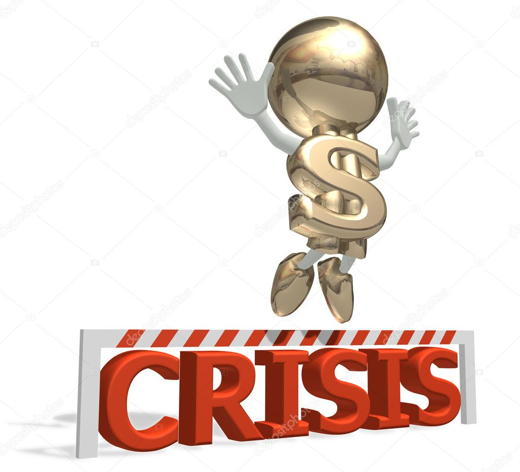 Mr dollar wins a global economic crisis — Stock Photo #2270776