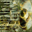 Jazz background green - Stockfoto