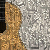 Jazz guitar background — Stock Photo