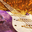Jazz background guitar and notes — Stock Photo