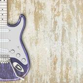 Jazz background guitar — Stock Photo