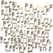 Golden notes isolated on a white — Stock Photo