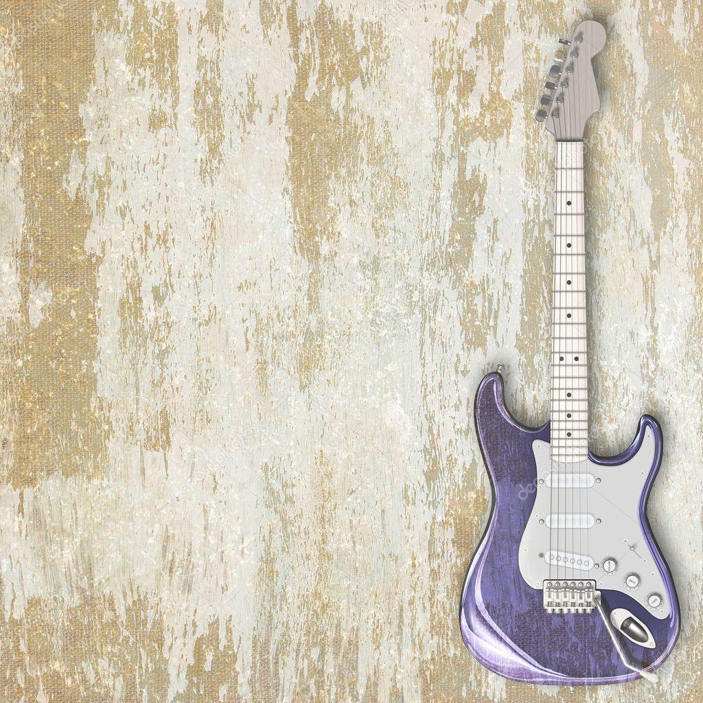 爵士乐背景吉他 — 图库照片