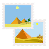 Egypt postage stamps — Stock Vector