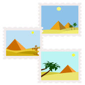 Stamps egypt — Stock Vector