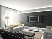 3d modern interior. — Stock Photo