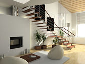 3d-interieur — Stockfoto