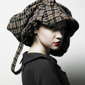 Young lady with hat — Stock Photo