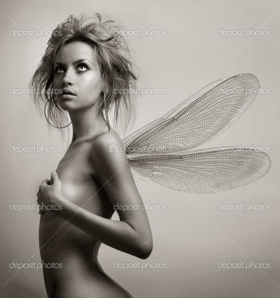 Girl with wings. Art Fashion photography — Stock Photo #2442151