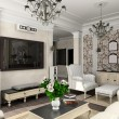 Living-room with classic furniture — Stockfoto