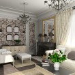 Stock Photo: Living-room with classic furniture