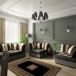 Royalty-Free Stock Photo: 3D render classical interior