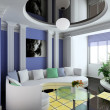 Stock Photo: 3D render classical interior