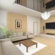 3D render modern interior - Stock Photo