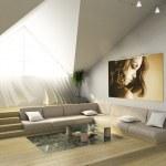 3D modern interior — Stock Photo