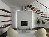 3d render modern interieur — Stockfoto