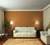 классический интерьер 3d визуализации — Стоковое фото