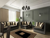 3D render classical interior — Stock Photo