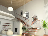 Modern comfortable interior — Stock Photo