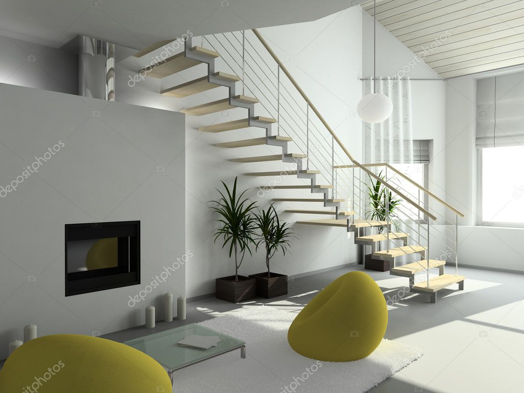 3d render modern interieur stockfoto egorrr 2517154 for Interieur woonkamer modern