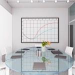 3D render modern office — Stock Photo