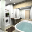 Stock Photo: Modern bathroom. 3D render