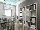 3d render moderna kontor — Stockfoto
