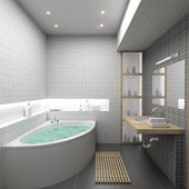 3D render interior of bathroom — Zdjęcie stockowe