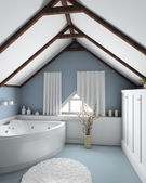 3D render interior of bathroom — Stock Photo