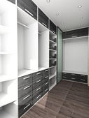 Big closet in home interior — Stock Photo