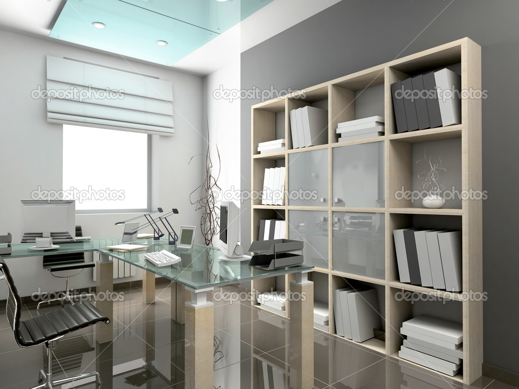 Modern interior. 3D render. Office. Exclusive design. — Foto de Stock   #2593316