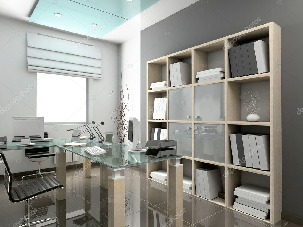 Modern interior. 3D render. Office. Exclusive design. — Stock Photo #2593316