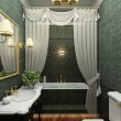Classic interior. 3D render - Foto de Stock  