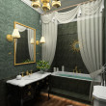 interior clásico. render 3D — Foto de Stock
