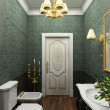 Classic interior. 3D render - Photo