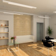 3D render modern interior of office - Stock Photo