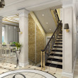 Hall with classic stair — Foto de stock #2604997