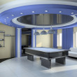Modern interior. 3D render - Foto Stock