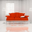 3D render of classic couch - Stock Photo